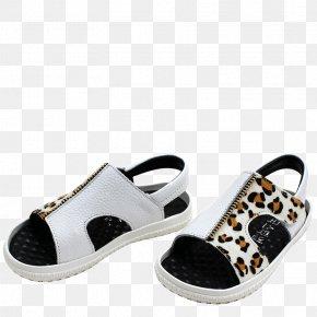 White Sandals - Slipper Sandal Shoe PNG