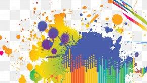 Colorful - Watercolor Painting DJ Mike's Mic Desktop Wallpaper Watercolor Painting PNG