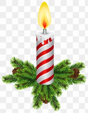 Christmas Candles Transparent Clip Art - Christmas Tree Candle Clip Art PNG