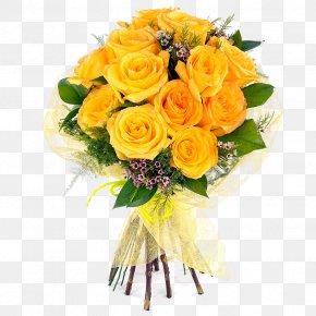 Bouquet Of Flowers - Flower Bouquet Cut Flowers Rose Floral Design PNG
