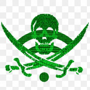 Fluorescence Skeleton Cranial Head - Jolly Roger Davy Jones Piracy Flag Decal PNG
