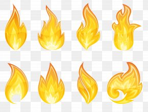 Transparent Flame Set Clipart - Flame Icon Clip Art PNG