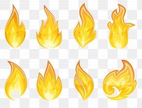Transparent Flame Set Clipart - Flame Icon Clip Art PNG