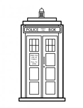 Doctor Pictures Free - The Three Doctors TARDIS Coloring Book Page PNG