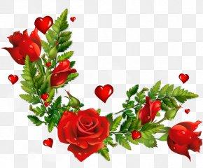 Rose Corner - Clip Art PNG