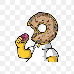 T-shirt - T-shirt Donuts Homer Simpson Bart Simpson PNG