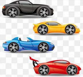 Cartoon Transportation Vehicle Design Vector Material, - Sports Car Truck PNG