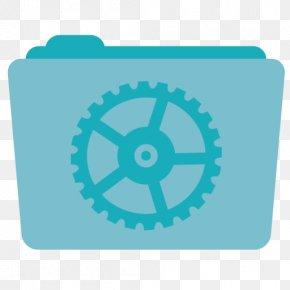 Folder Utilities - Blue Turquoise Aqua PNG