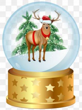 Christmas Deer Snow Globe Clip Art Image - Christmas Snow Globe Clip Art PNG