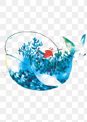 Blue Whale - Blue Whale Watercolor Painting Drawing Art PNG