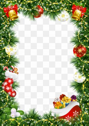 Christmas Decoration - Santa Claus Christmas Decoration Picture Frame Christmas Tree PNG