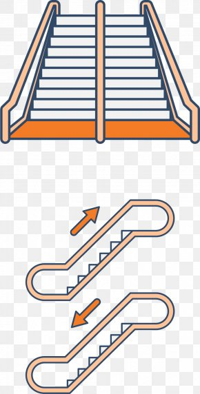 Parallel Ladder - Stairs Escalator Elevator PNG