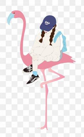 Cartoon Flamingo Mounts - Flamingos Pink Cartoon Wallpaper PNG