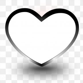 Black And White Heart Images - Black And White Heart Coloring Book Drawing Clip Art PNG