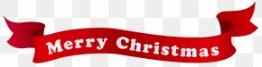 Merry Christmas Banner Clipart Image - Christmas Banner Holiday Clip Art PNG