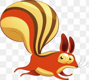 Vector Cute Little Squirrel - Squirrel Animal Illustration PNG