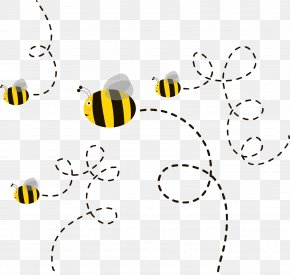 Cute Cartoon Bee - Honey Bee Euclidean Vector Drawing PNG