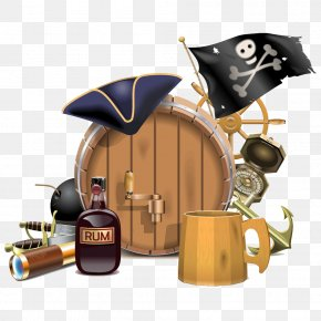 Pirate Themed Illustration Picture - Piracy Royalty-free Illustration PNG