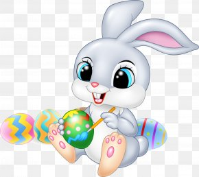 Easter Bunny - Easter Bunny Cartoon Illustration PNG
