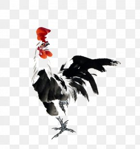 Cock - Rooster Chicken Chinese Painting Ink Wash Painting PNG