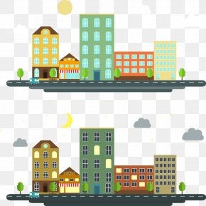 Vector Daytime Night Apartment - Apartment House Gratis PNG
