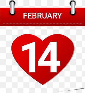 14 To - February 14 Valentine's Day Stock Illustration PNG