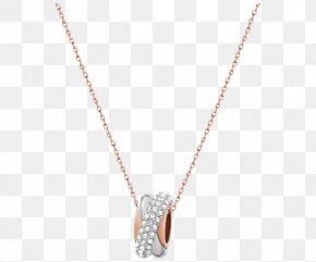 Swarovski Necklace Jewelry Female Ring - Necklace Pendant Chain Body Piercing Jewellery PNG