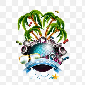 Musical Elements - Summer Party Illustration PNG