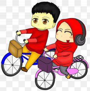 Moslem Couple - Diya Drawing Candle Clip Art PNG