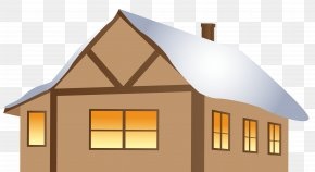Winter Brown House Clipart Image - House Clip Art PNG
