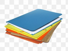 Bunch Of Blue Orange Yellow Folder - Paper Directory Download Computer File PNG