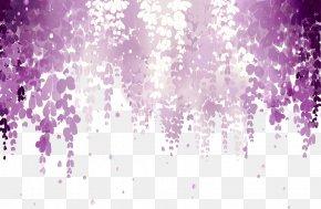 Dream Wisteria Picture Material - Wisteria Floribunda Flower Pink Purple Wallpaper PNG