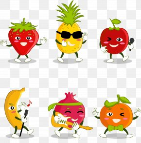Vector Hand-painted Cartoon Fruit - Fruit Cartoon PNG