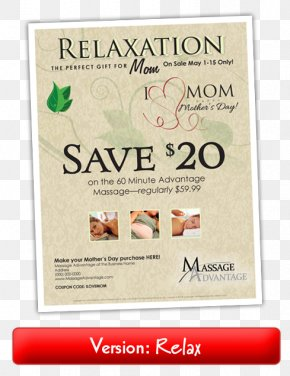 Everything Included Flyer - Massage Chair Mother's Day Flyer Massage Table PNG