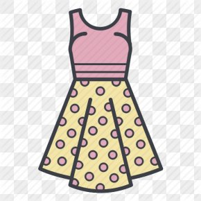 Cartoon Dress - Polka Dot Dress Skirt Clothing PNG