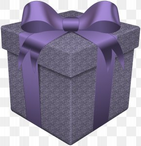 Gift Box Purple Transparent Clip Art - Christmas Gift Clip Art PNG