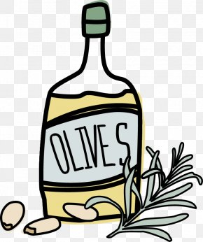 Olive Oil - Clip Art Olive Oil Ice Cream Liqueur PNG
