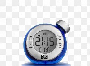 Blue Electronic Alarm Clock - Alarm Clock Table Nightstand Digital Clock PNG