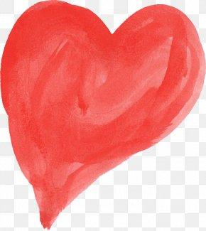 Watercolor Heart - Watercolor Painting Heart Clip Art PNG