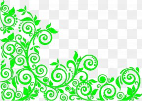 Antique Green Background - Wedding Invitation Green Euclidean Vector Plant PNG