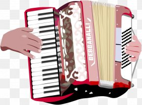 Hand-drawn Characters And Accordion - Piano Accordion Musical Instrument Diatonic Button Accordion Clip Art PNG