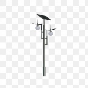 Double Lamp Solar Street Light - Solar Street Light Solar Energy Lamp Bathroom PNG