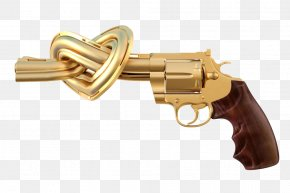 Pistol Gold - Non-Violence Stock Photography Firearm Revolver Pistol PNG