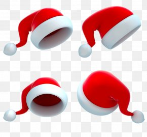 Four Christmas Hats - Santa Claus 3D Computer Graphics Photography Royalty-free Illustration PNG