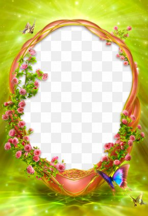 Green Star Border - Picture Frames PNG