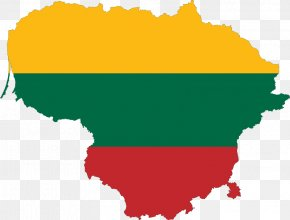 Map - Lithuanian Soviet Socialist Republic Flag Of Lithuania Map National Flag PNG