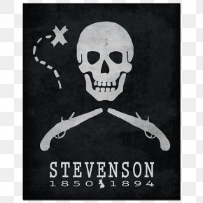 Watercolor Island - Piracy Skull And Crossbones United States Flag Person PNG