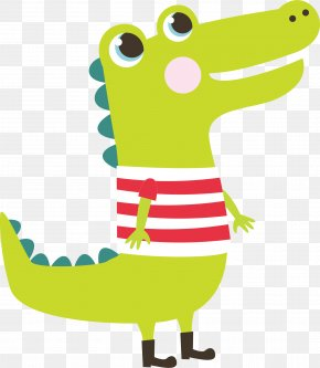Green Dinosaur Vector - Crocodile ABC Tracing Clip Art PNG