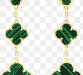 Gold - Earring Van Cleef & Arpels Colored Gold Necklace PNG