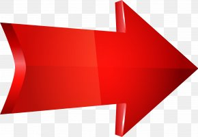 Vector Painted Red Arrow - Euclidean Vector Arrow Red PNG